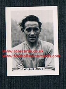 1958 Colinville Footer Foto Gum card International Football Stars Leeds United Wilbur Cush