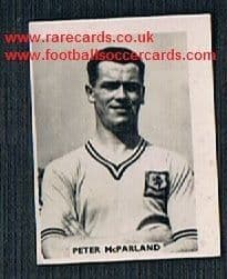 1958 Colinville Footer Foto Gum card International Football Stars Peter McParland Aston Villa