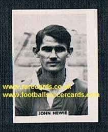 1958 Colinville Footer Foto Gum card John Hewie Charlton Athletic Scotland
