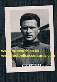 1958 Colinville Footer Foto Gum card Man Utd N.Ireland Harry Gregg