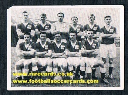 1958 OK Gum Northern Ireland World Cup 58 Keith Gregg Blanchflower Peacock McIlroy McParland Bingham