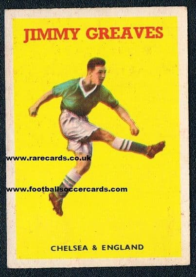 1959 A&BC Gum card Jimmy Greaves 7