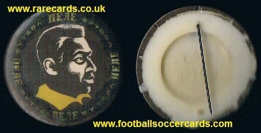 1960's Pelé badge from the former USSR Brazil World Cup 1962 or 1966