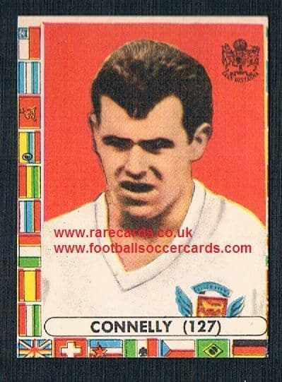 1960s Italian Lampo gum card John Connelly Burnley Bury BR Man Utd England