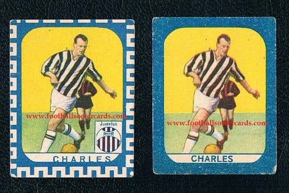 1960s John Charles x2 Nannina economy issue strip cards two types
