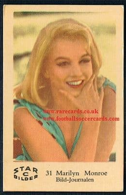 1960s Star C31 Misfits Marilyn Monroe card