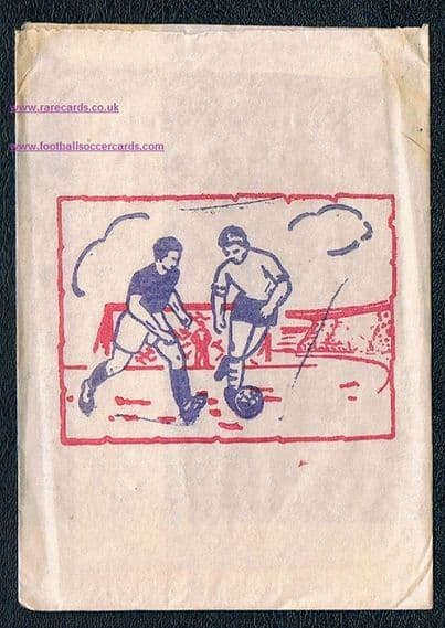 1961 - 1962 SAIM football cards packet made in Italy