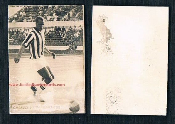 1961 John Charles Juventus by Galli a very rare Italian issuer photocard with AMR