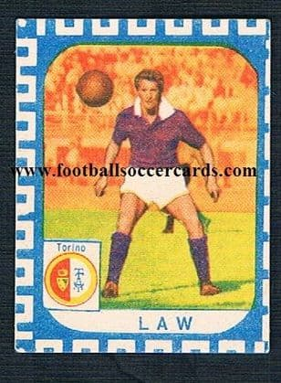 1961 Nannina Denis Law small trade card from Italy