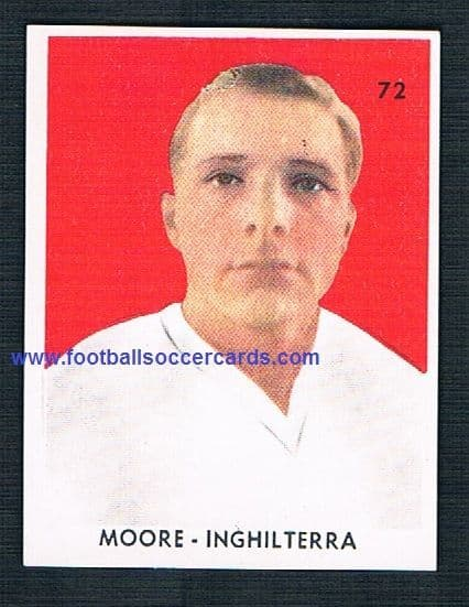 1962 Bobby Moore  rookie San Giorgio Italian sticker for WC62