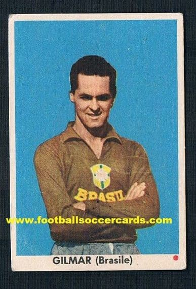 1962 EDI Gilmar plain back red spot gum card from Italy