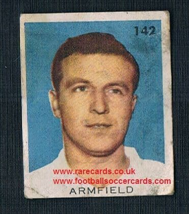 1962 England WC62 Chile-only issue sticker Jimmy Armfield Blackpool England