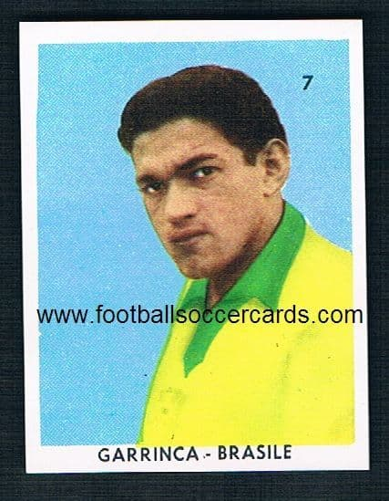 1962 Garrincha UNUSED by San Giorgio Italy very rare paper issue with a small circulation