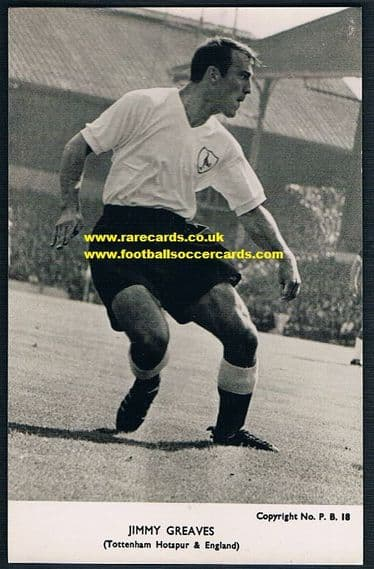 1962 Jimmy Greaves Spurs PB18 pc