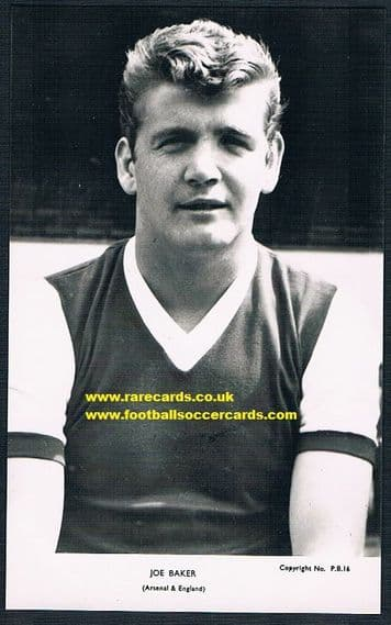 1962 Joe Baker Arsenal CBCC pb16