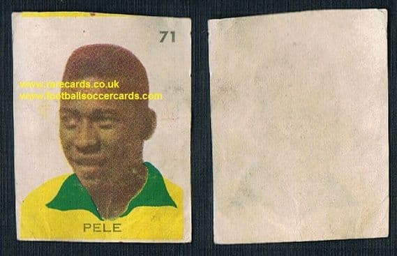 1962 Livingstone Pele sticker from Chile WC62, s/p £1,500. For the complete album see my other sales