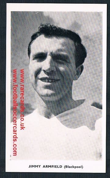 1962 Quaker Oats Jimmy Armfield Blackpool England redemption card