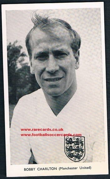 1962 Quaker Oats Redemption card World Cup 1962 Man Utd Bobby  Charlton low price due to AMR