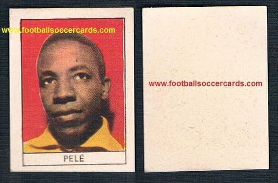 1962 Stella NO MARK type Pelé small card clean back