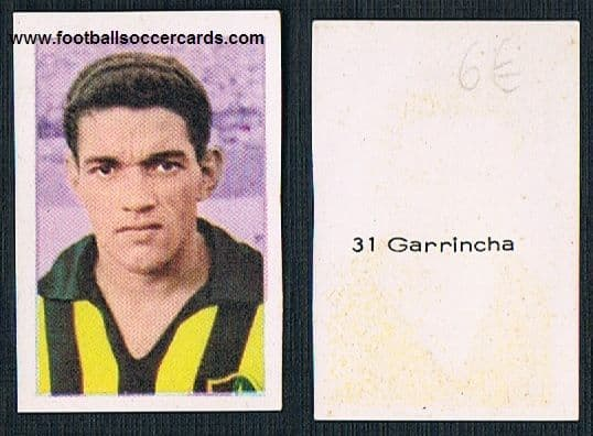 1963 Garrincha issued in a pair by RuiRomer, most were cut to stick into an album