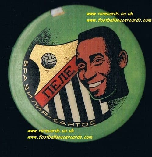 1963 Pele badge from Russia Santos Brazil plastic button