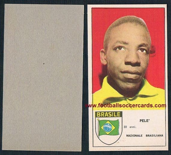 1963 Pele Panoramic flag edition of the 1962 Stella card ex/NM condition - on Ebay $2700!