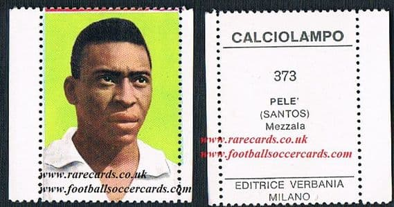1964-65 Pele Verbania 2 borders - lesser sold on EB for $909!