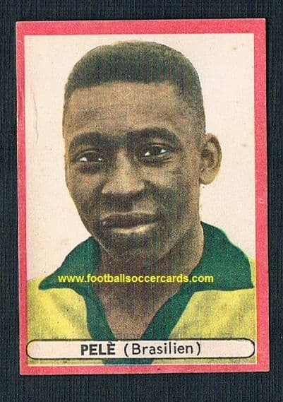 1964 Sicker Verlag  Pele Brazil card from West Germany with AMR faults