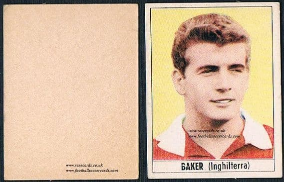 1965 Arsenal Galbani Joe Baker