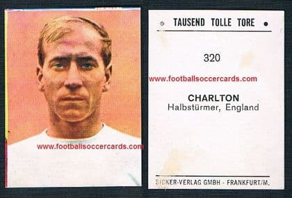 1965 German Bobby Charlton Tausend Tolle Tore 320 with paper residue to rear Very rare