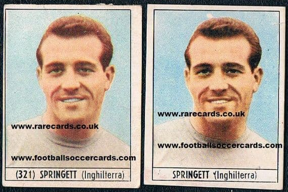 1965 Springett 1 card NO NUMBER