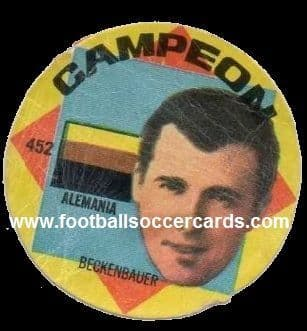 1966 Beckenbauer Campeon pog from Argentina. Back has heavy AMR but so rare! It needs to be £4k s/p