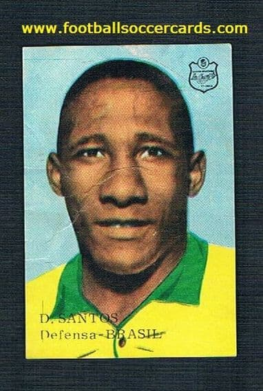 1966 Casera variation of Djalma Santos of Brazil, a rare sticker  from Spain