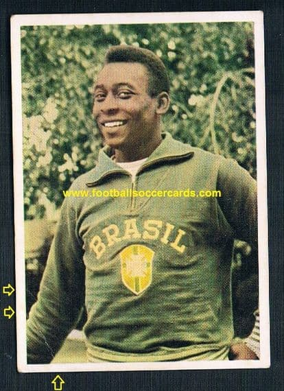 1966 Pelé Kunold gum from card West Germany Note: CC