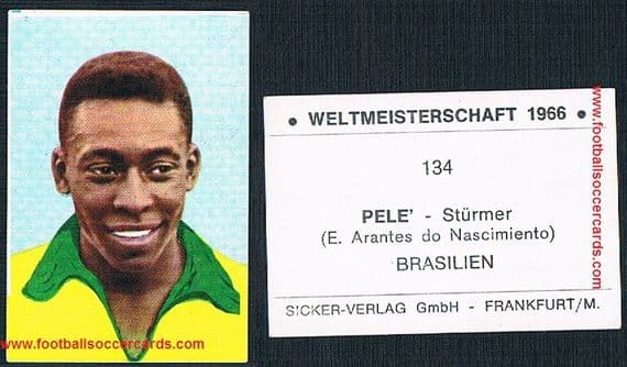 1966 Pele from West Germany EX Sicker Verlag WM66