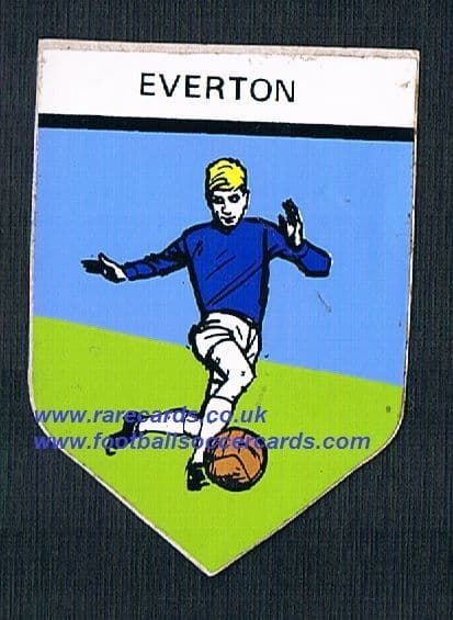 1967 Northern trancessories PVC sticker Everton with backing paper