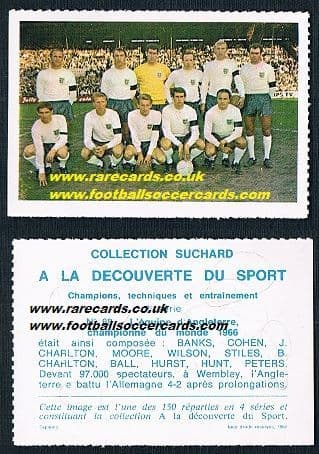 1967 Suchard England WC66 winners