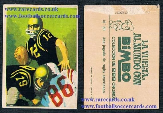1969 from SPAIN  Bimbo American football vuelta al mundo