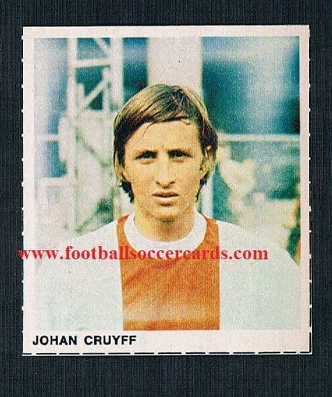 1970 71 Foto Galerij  Dutch-only issue Johan Cruyff sticker UNused
