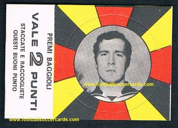 1970 Beckenbauer 3-part card by Baggioli Italy Hunt The Champion RARE AS TRIPLE