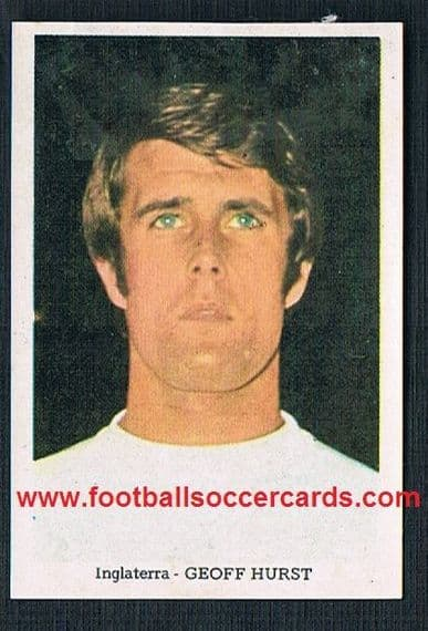 1970 exotic South American Geoff Hurst WC70 sticker West Ham England