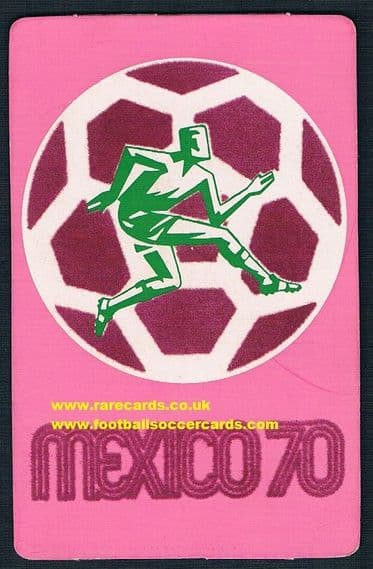 1970 Mexico WC70 original felt card