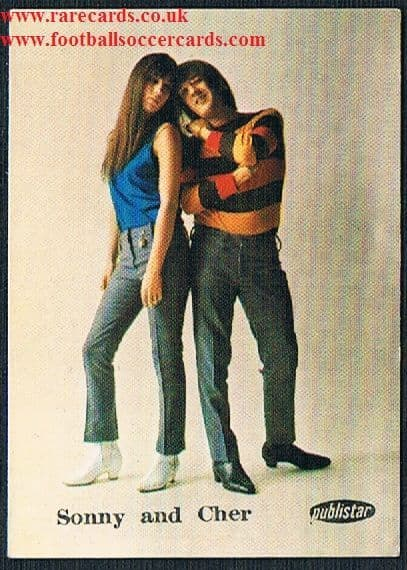 1970 Samo Chips Sonny & Cher trade card