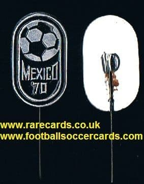 1970 World Cup Mexico 70 pin enamel metal badge intact