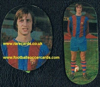 1970s Spanish Cruyff stickers pair
