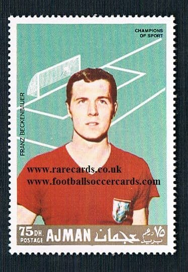 1971 Beckenbauer Middle East stamp