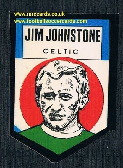1972 BAB unused Shooting Stars Celtic Jim Johnstone