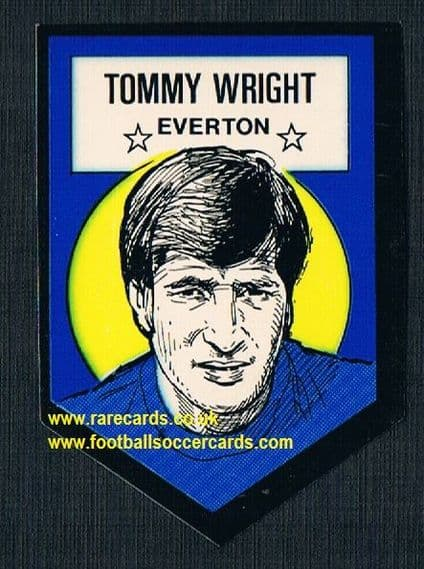 1972 BAB unused Shooting Stars Everton Tommy Wright DARK with backing paper