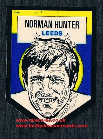 1972 BAB unused Shooting Stars Norman Hunter Leeds United  with backing paper