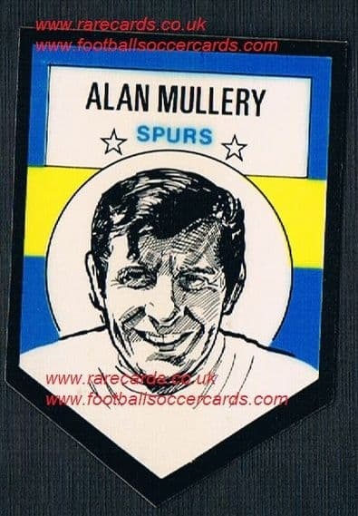 1972 BAB unused Shooting Stars Spurs Alan Mullery with original backing paper